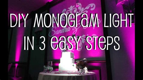 diy monogram light   easy steps youtube
