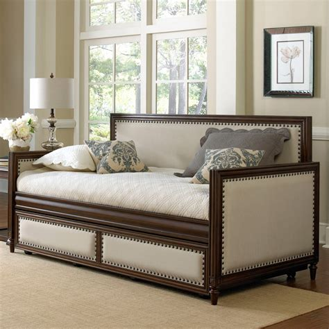 Grandover Iron & Upholstered Daybed In Cream  Espresso. Weathered Wood Vanity. Small Utility Sink. Suit Valet. Knickerbocker Pools. Window Treatment Ideas For Sliding Glass Doors. Chinoiserie Chic. Gerber Homes. Deck Tiles Lowes