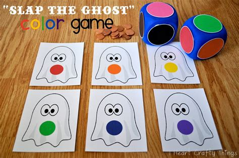 quot slap the ghost quot color i crafty things 469 | Halloween Ghost Game