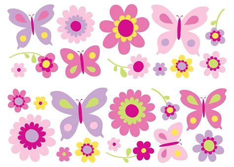 Funwalls Sa Flowers And Butterflies Wall Stickers