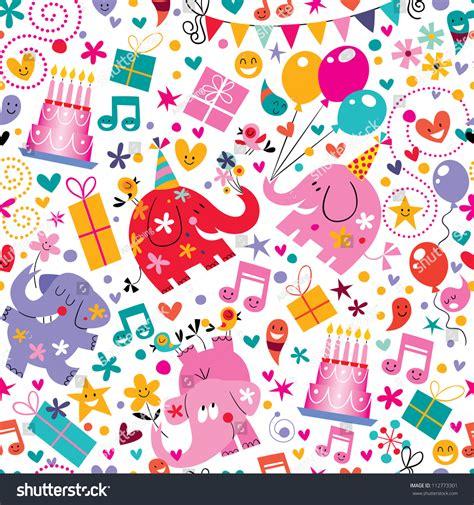 happy birthday pattern stock vector illustration 112773301