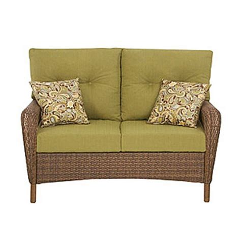 martha stewart charlottetown patio cushions charlottetown loveseat replacement cushion set garden winds