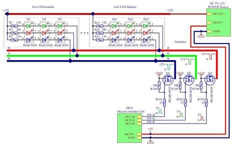 rgb led wiring diagram to magic controller 48