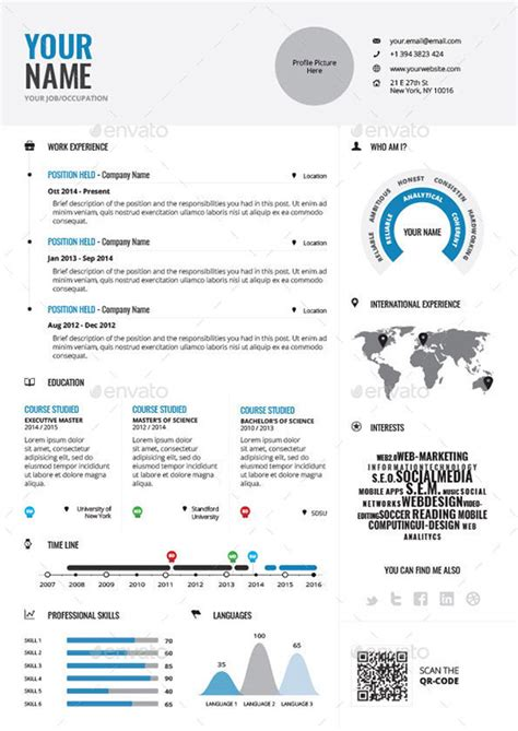 Free Infographic Resume Maker by Resume Design Worksheet Printables Site