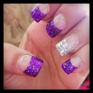 50 cool purple tip nail design idea