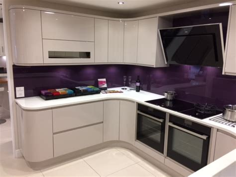 sheraton   high gloss cashmere  display kitchen