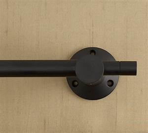 Decor: Wall Mounted Black Curtain Hardware Rod For Home
