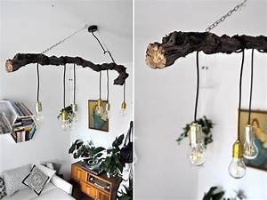 Deko Ast Holz : diy lampe mit ast ~ Frokenaadalensverden.com Haus und Dekorationen