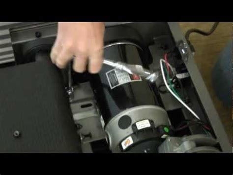 treadmill drive motor replacement youtube