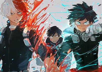 Academia Hero Midoriya Izuku Anime Wallpapers Todoroki