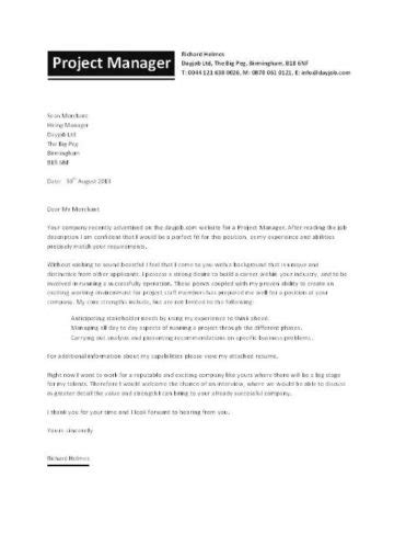 Web Project Manager Cover Letter Sample Livecareer Throughout