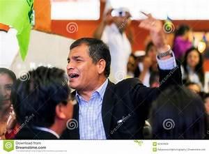 Rafael Correa, The President Of Ecuador Editorial Stock ...