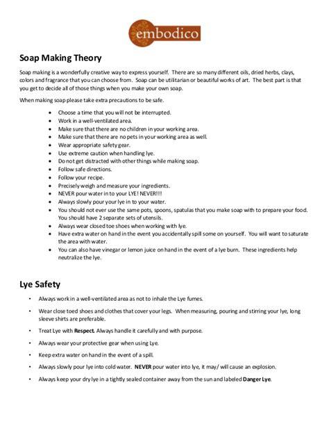 soap making theory handouts  shea  workshops