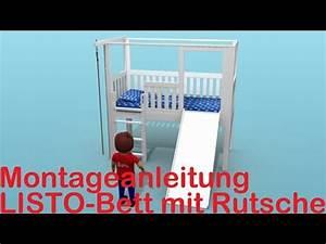 Kinderbett Mit Rutsche : bauanleitung kinderbett listo mit rutsche youtube ~ Orissabook.com Haus und Dekorationen