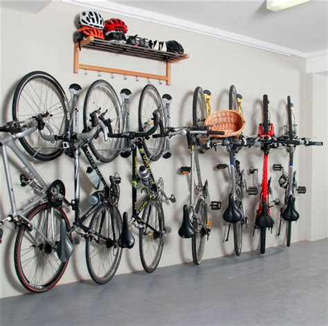 Floor To Ceiling Tension Rod Shelves by Awesome Wall Bike Storage Ideas With Helmets Shelving In