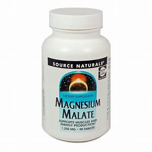 Magnesium Malate By Source Naturals 90 Tablets