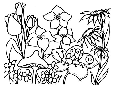gardening pictures to colour coloring pages for kids flower garden coloring pages for kids