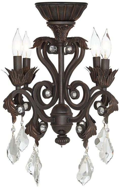 fan chandeliers 4 light rubbed bronze chandelier ceiling fan light kit
