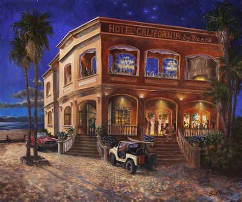 Hotel California By The Sea  Art By Scott Kennedy