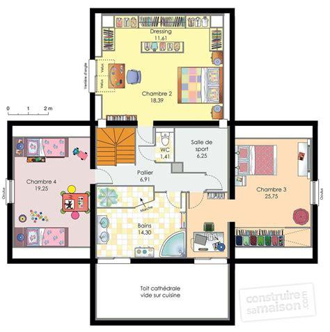 maison 6 chambres plan maison 6 chambres descriptif plan rdc maison maison