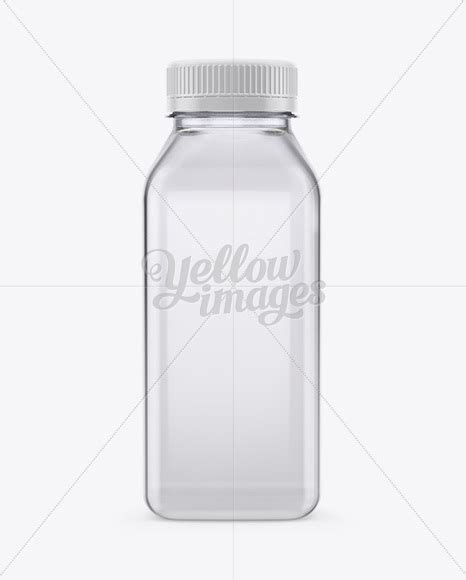 Mockup of liquid bottle labels. Clear Plastic Bottle Mockup in Bottle Mockups on Yellow ...