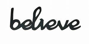 BELIEVE Word Decor