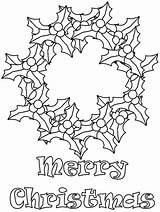 Coloring Christmas Pages Wreath Wreath2 Printable Wreaths Holly Coloringpagebook Popular Advertisement Coloringhome sketch template