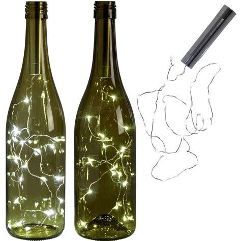 15led copper string light wine bottle cork light for