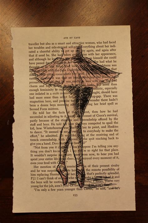 book page drawing ballerina   etsy craft