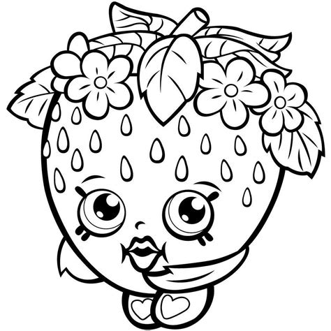 Shopkins Coloring Pages Simple Coloring Book Apple Blossom