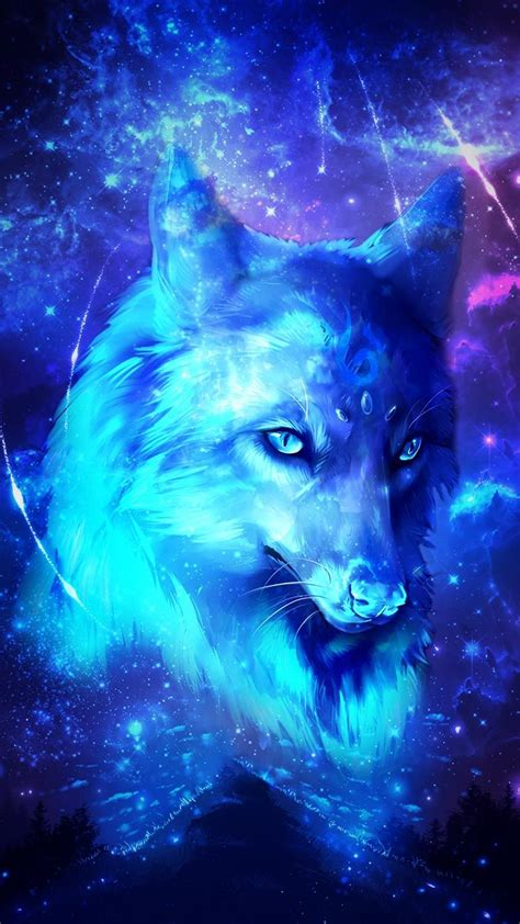 Blue And Purple Wolf Wallpaper by Will Find A Way Through Paths Where Wolves Fear To