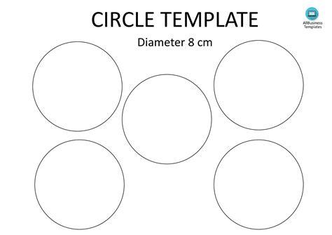 Circle Template Free Circle Template A4 8cm Templates At