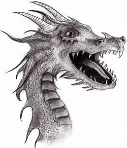 Dragon drawing by AsYourFallingDown on DeviantArt