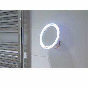 miroir lumineux grossissant a ventouse jc 318 With miroir grossissant ventouse