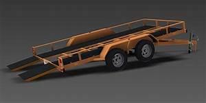 2500kg Tilt Flatbed Trailer
