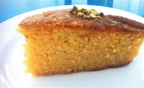 greek ravani revani recipe coconut cake  syrup