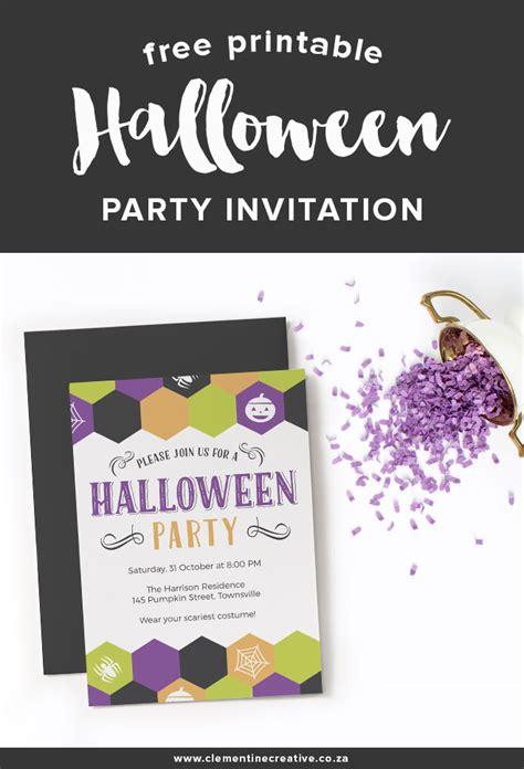Free Printable Halloween Party Invitation