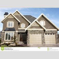 New Home House Stucco Stock Photo Image Of Elevation