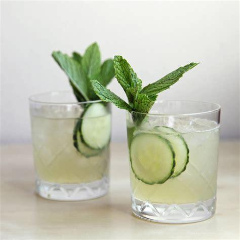 gin cocktail cucumber mint gin cocktail popsugar food