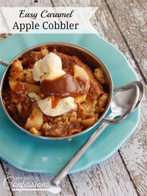 apple cobbler recipe easy easy caramel apple cobbler my recipe confessions