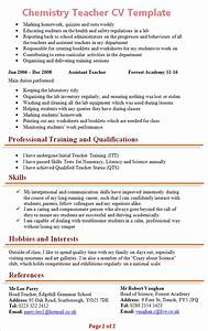 chemistry teacher cv template 2 With chemist cv template