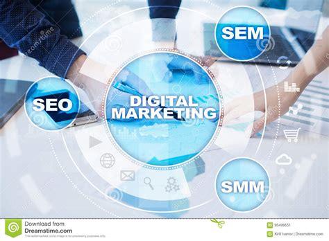 Seo Technology by Digital Marketing Technology Concept