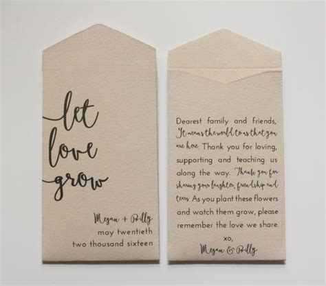 love grow seed packets seed packet wedding favors