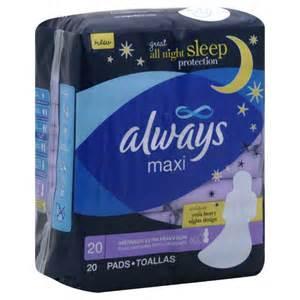 Always Overnight Maxi Pads