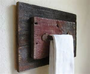 Reclaimed Barn Wood Towel Holder