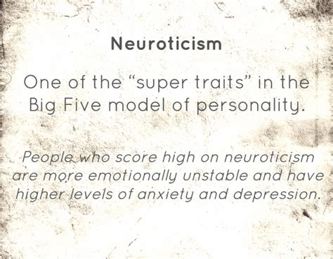 "Define ""neuroticism"" Personality"