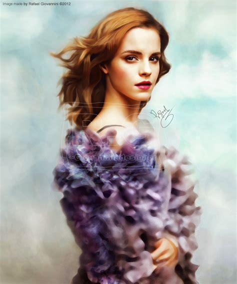 Emma Watson Beautiful Painting Rafaelgiovannini