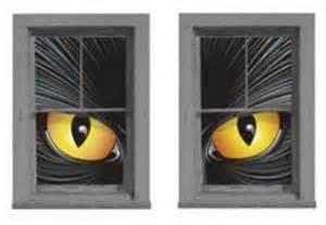 Halloween Cat Eyes Window Clings