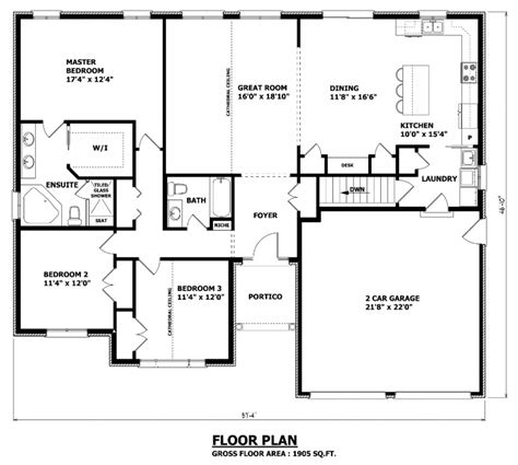house plans with media room 1905 sq ft the barrie house floor plan total kitchen