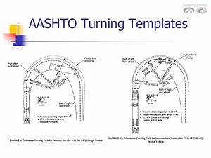 roadway design manual minimum designs for truck and bus With design vehicles and turning path template guide
